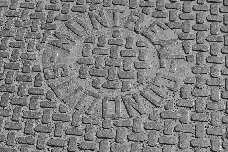 Manhole, Old Town Montreal, Quebec; Canada