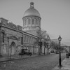 Marche Bonsecours stands along the cobblestone street.  And in Black & White.......  Old Town Montreal