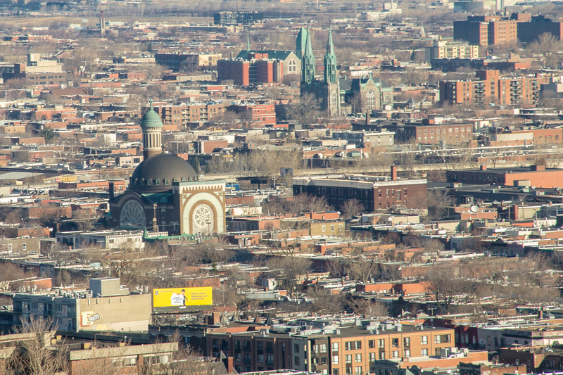 Montreal is home to the largest congregation of churches for cities in North America, many of which can be seen here.