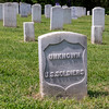 Tombstone for unknown Union soldiers at the National Cemetery at Fort Donelson.