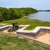 The river battery overlooking the Tennessee River protecting Fort Donelson