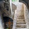 Stairwell adjacent to the church<br /> Mission Concepcion, San Antonio, Texas