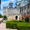 Looking through one of the many arches that can be found at Mission San Jose in San Antonio, Texas