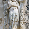 Sculpture above main entrance<br /> Mission San Jose<br /> San Antonio Missions National Park<br /> San Antonio, Texas