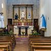 Inside the chapel at Mission San Juan, San Antonio, Texas