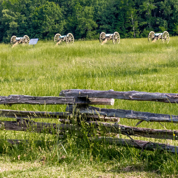 Shiloh National Battlefield<br /> <br /> Union field artillery at the Peach Orchard