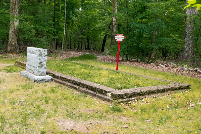 Shiloh National Battlefield<br /> <br /> Confederate burial trench.  This trench, one of the smaller ones, is the final resting place of approximately 200-300 soldiers.