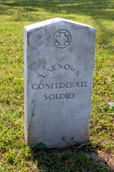 Unknown Confederate soldier at the site of Battery Robinette at the battle of Corinth, MS