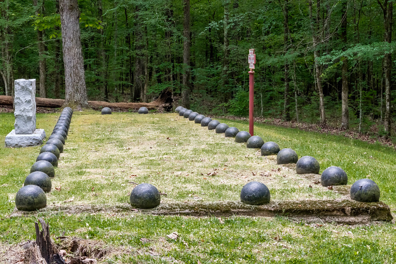 Shiloh National Battlefield<br /> <br /> The largest of (5) Confederate burial trenches.  Considered traitors, confederate soldiers were not buried in the national cemetery with the Union soldiers in the park.<br /> <br /> Image 1 of 2.