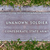 Shiloh National Battlefield<br /> <br /> Grave marker of Unknown Confederate soldier located alongside a burial trench.