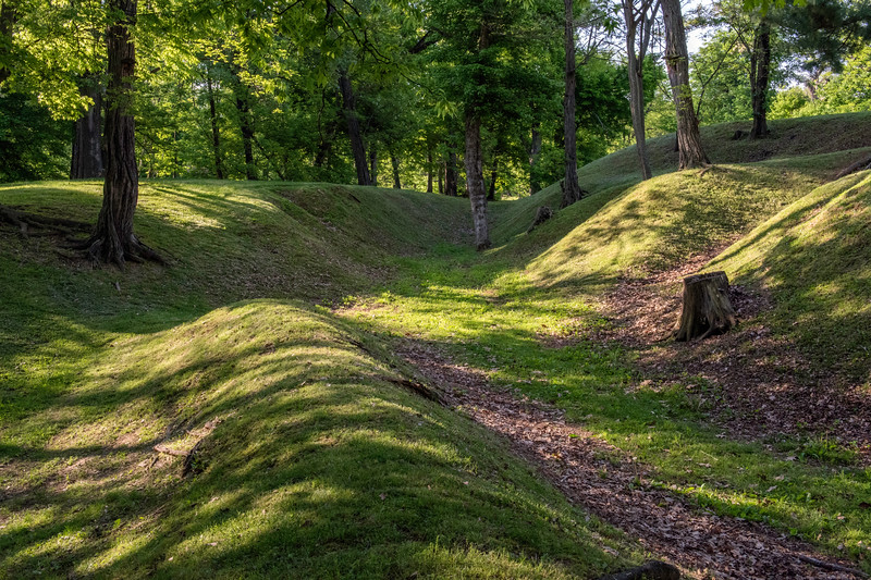 Redoubt emplacement at Columbus-Belmont State Park