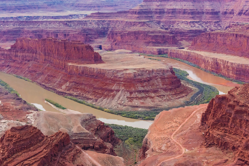 Here is one of the most iconic shots of Dead Horse Point.  Here you see it without the sky.....