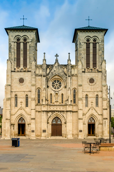 A church near the Alamo which is said to contain the remains of the gallant defenders.