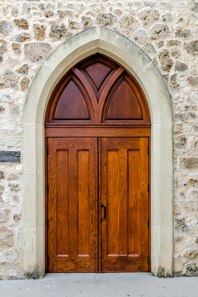Another gorgeous entry door to the church,  This one is at a side entrance.