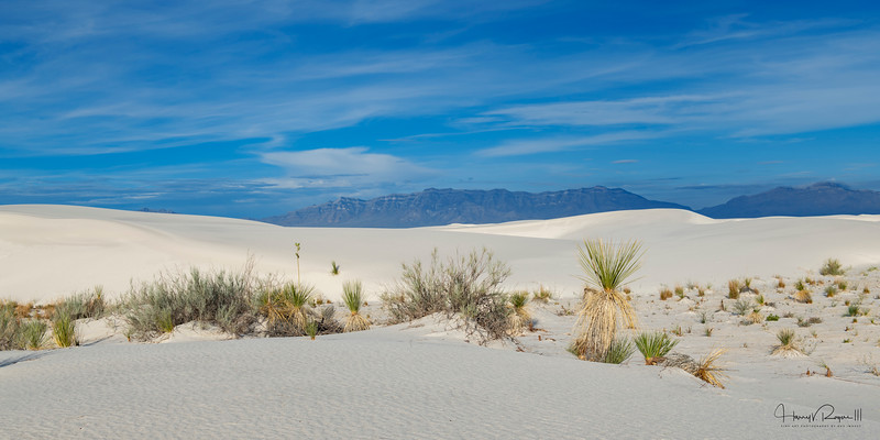"""""""Blue Skies Over White Sands"""" This image is sized at 1x2"""