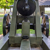 """Lady Polk"", a giant experimental cannon named for Polk's wife. At 10 feet (3.0 m) long and 15,000 pounds, the imposing gun bombarded Ulysses S. Grant's troops at the Battle of Belmont with 128-pound conical projectiles that it could fire up to three miles (5 km). However, repeated shots from the cannon heated and expanded the metal barrel, so when its last loaded but unfired shot from the Battle of Belmont was discharged two days later, the projectile was unable to escape the barrel, causing the cannon to explode into three pieces and killing 18 Confederate soldiers. A Federal newspaper soon after mocked that: ""a person would be likely to consider himself as safe on one end [of the cannon] as the other."""