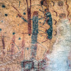 The right end of the White Shaman mural apparently depicts an ancient pilgrimage, led by the red deer with black feet at bottom left.