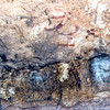 4000 year old pictographs on the wall of the Fate Bell Shelter.