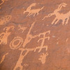 Ancient petroglyphs near Atlatl Rock, Valley of Fire State Park, Nevada