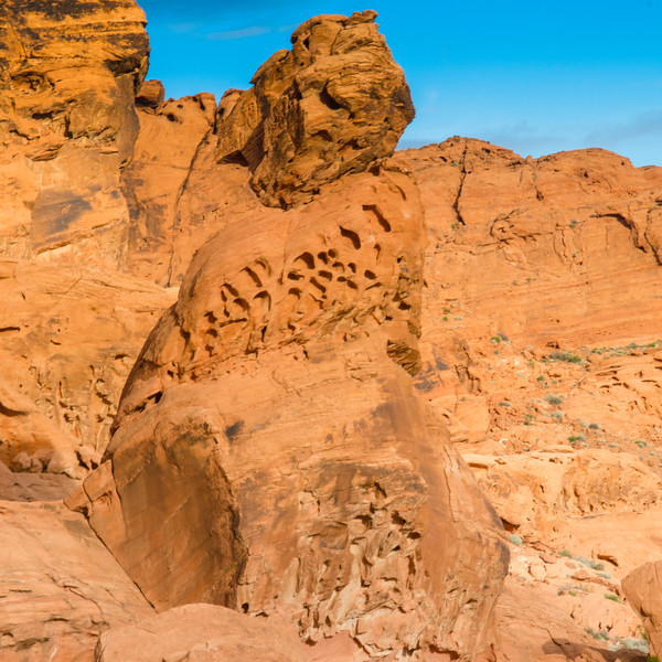Interesting rock formation carved over millions of years of work at the Valley of Fire State Park, Nevada.