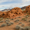 Scenic shot on the road to Rainbow Vista at Valley of Fire State Park, Nevada.