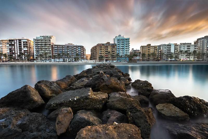 Dawn on the beach of El Palmeral