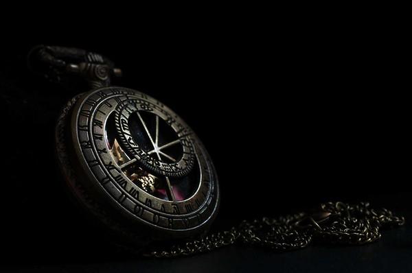 Pocket watch in low key