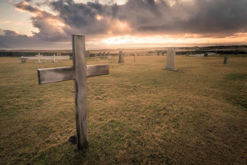 Cemetery in Búdakirkja Black Church