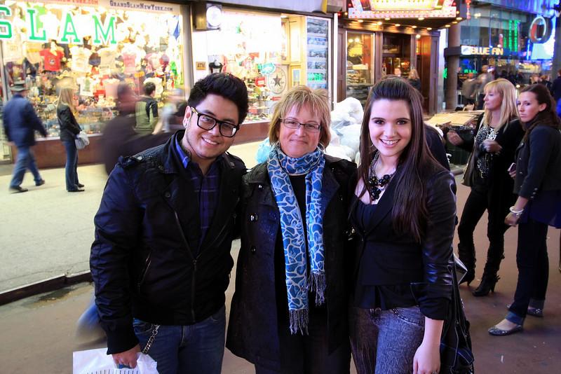 American Idol Stars, Andrew Garcia & Kate Stevens and my beautiful wife.