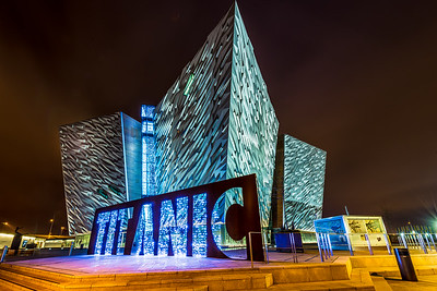 The Titanic Building At Night 1