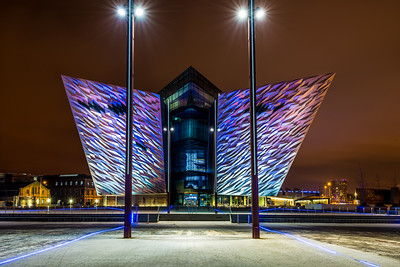 The Titanic Building At Night 2