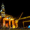 The Blackford Dolphin Oil Rig at Harland & Wolf Dry Dock, Belfast