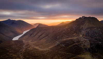 Sunset Over Ben Crom
