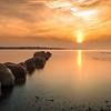 Sunset Over Ballyholme Beach, County Down