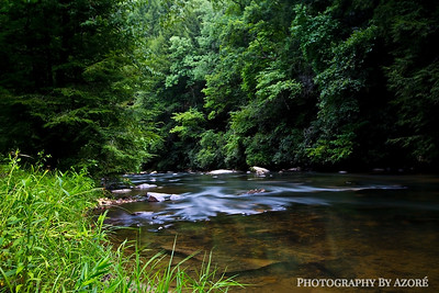 Coosawattee River In Ellijay Georgia