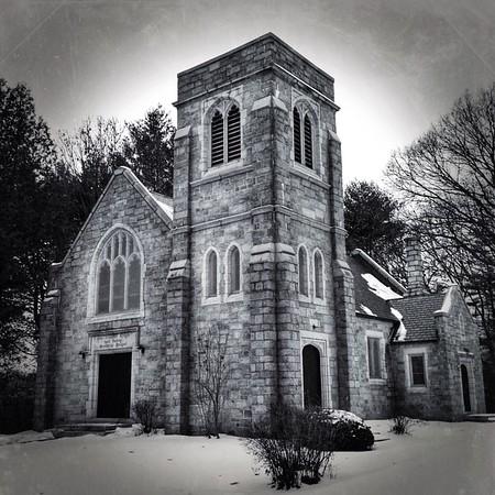 Chapel in the rain