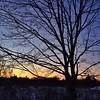 Sun setting on February