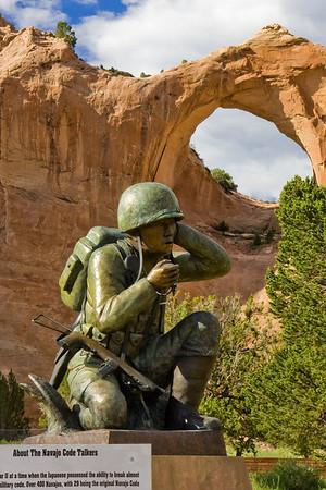 Veteran's Statue, Window Rock, AZ