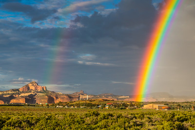 Rainbow Over Rehoboth and Red Rocks, Gallup, NM