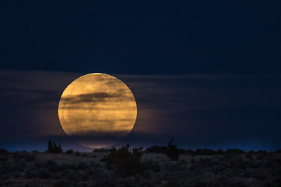 Moonrise Over Sundance Road, Rehoboth, NM