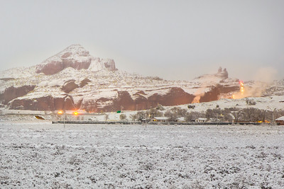 Snowstorm over the Red Rocks, Gallup, NM