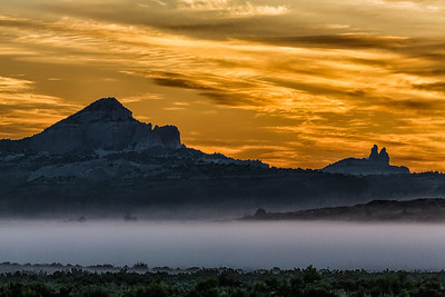Foggy Morning Sunrise, Gallup, NM