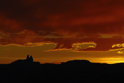 Sunrise over Church Rock, NM