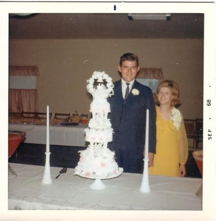 Our wedding reception at Grange Hall 1968