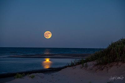 Galveston, Texas  - Harvest Moon  9-24-18