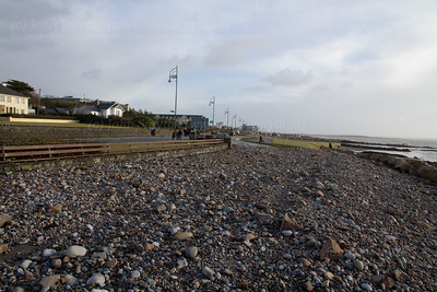 Salthill Promenade covered with rocks