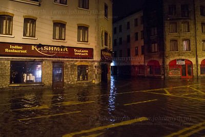 Flooded restaurant in Galway