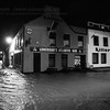 The Atlantic came right up to Lonergan's door this morning. The pub in Salthill looked to have survived the storm - the floodwater did not look to be too high outside the building.