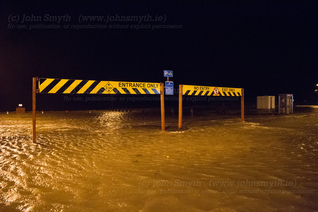 The entrance to the car park on Salthill Promenade. There weren't any cars in it, which was just as well, because it became a lake at high tide.