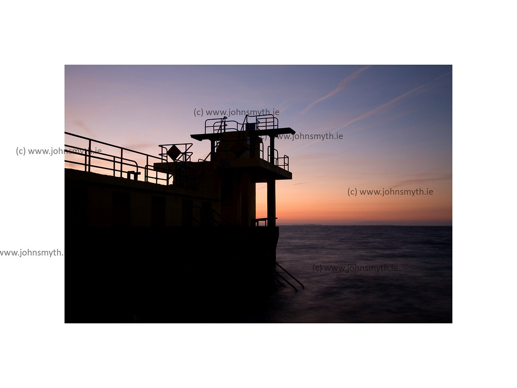 Dawn at Blackrock diving board in Salthill, Galway.
